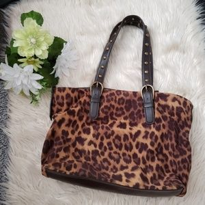 NINE WEST leopard print purse